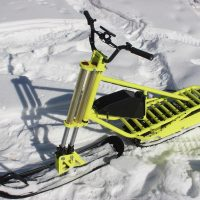 electric snowbike yellow_11