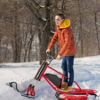 electric snowbike_red_8