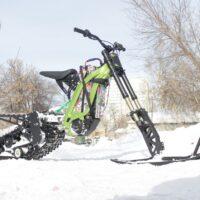 Surron snowbike_electric snowbike_sur ron snowbike kit_гусеница на суррон_surron гусеничный комплект_2