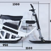 Size_electric snowscooter 3 kW