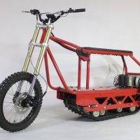 Электрический вездеход_сноубайк_electric atv_tracked vehicle_snowbike_5