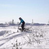 Электрический снегоход_электро сноубайк_сноускутер_электро собака_электро буксировщик_14