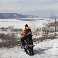 Электрический снегоход_электро сноубайк_сноускутер_электро собака_электро буксировщик_6